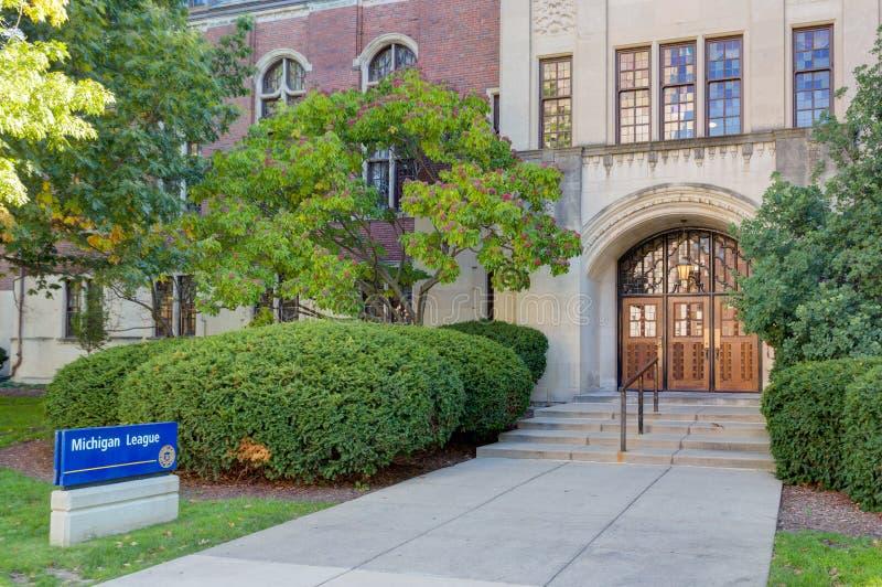 Edificio de la liga de Michigan en la Universidad de Michigan imágenes de archivo libres de regalías