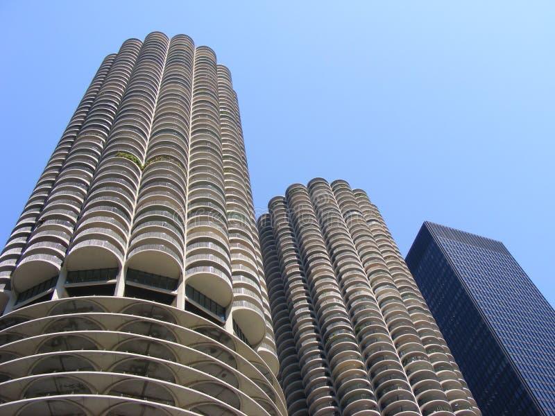 Edificio de la mazorca de maíz de Chicago Illinois fotos de archivo