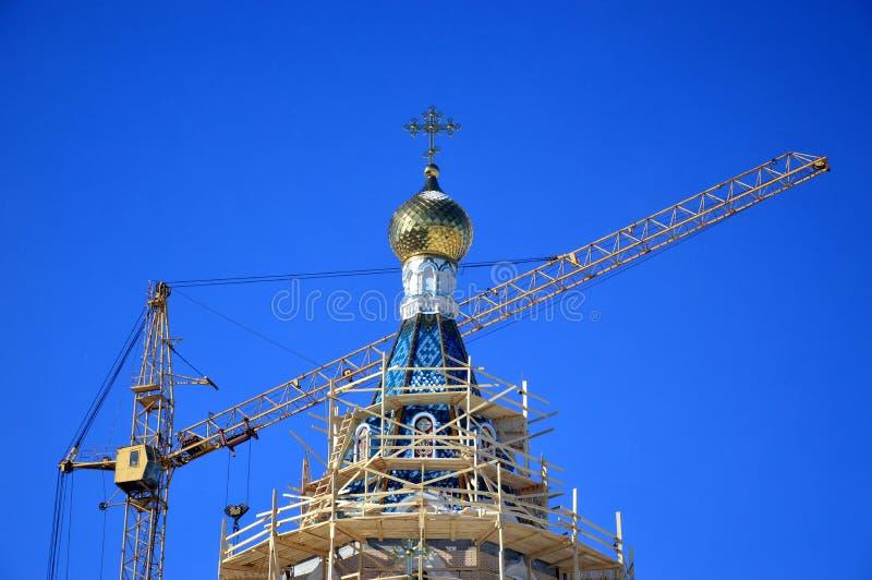 Edificio de la nueva iglesia fotos de archivo libres de regalías
