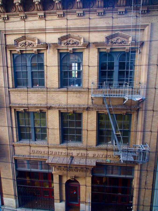 Edificio de la patrulla del fuego de los suscriptores foto de archivo