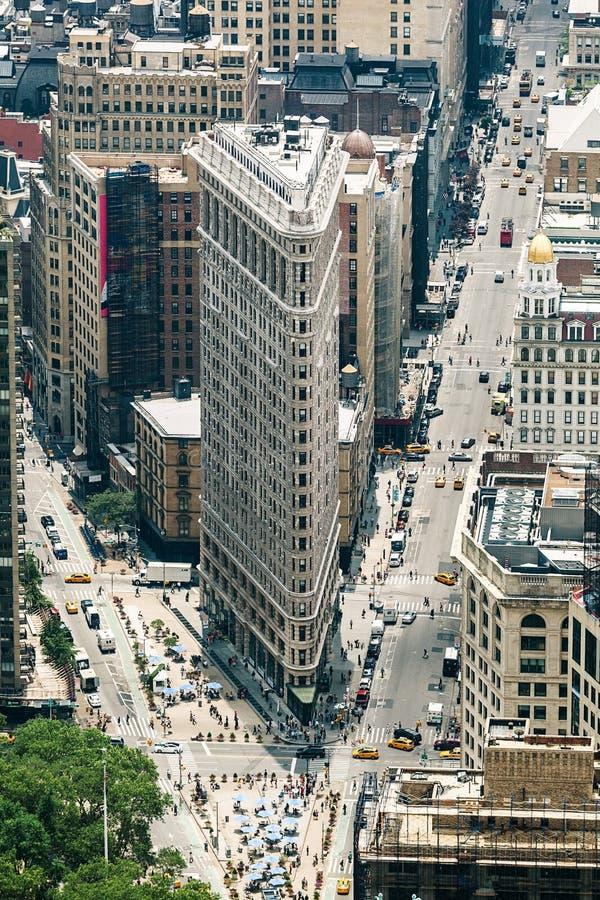 Edificio de la plancha diseñado por Daniel Burnham de Chicago imagen de archivo libre de regalías