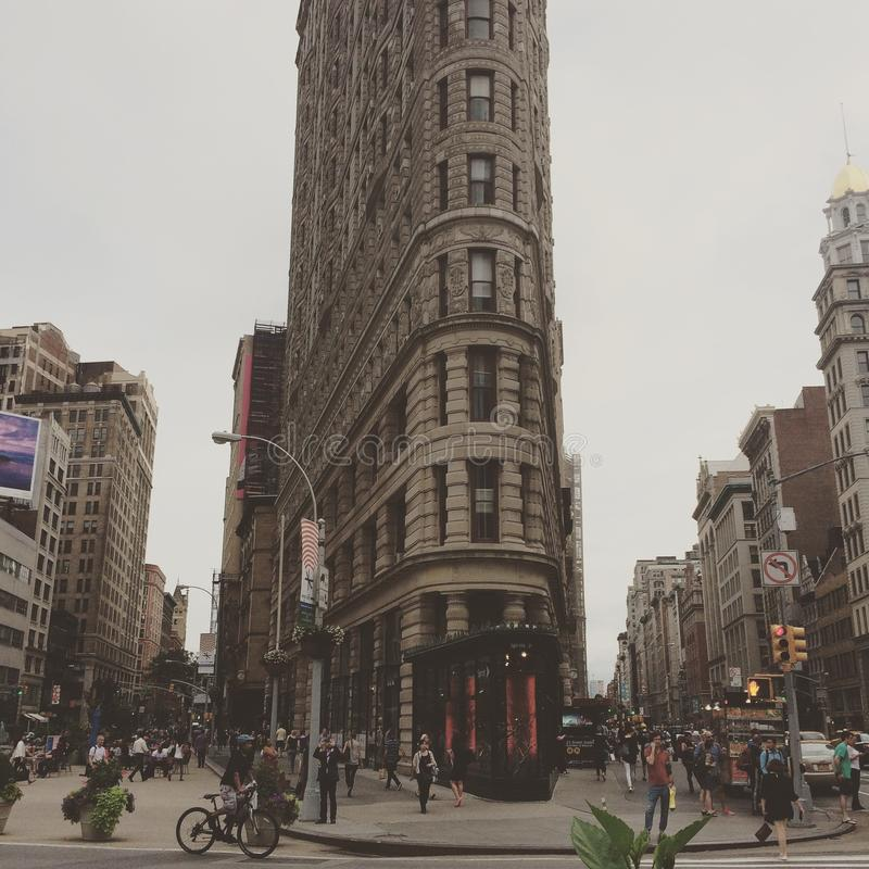 Edificio de la plancha en Nueva York, los E.E.U.U. fotos de archivo libres de regalías