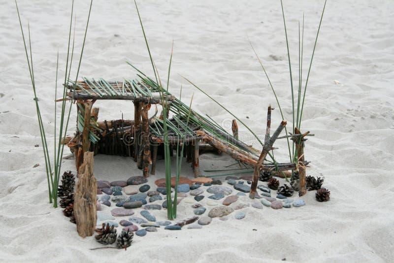 Edificio de la playa fotografía de archivo