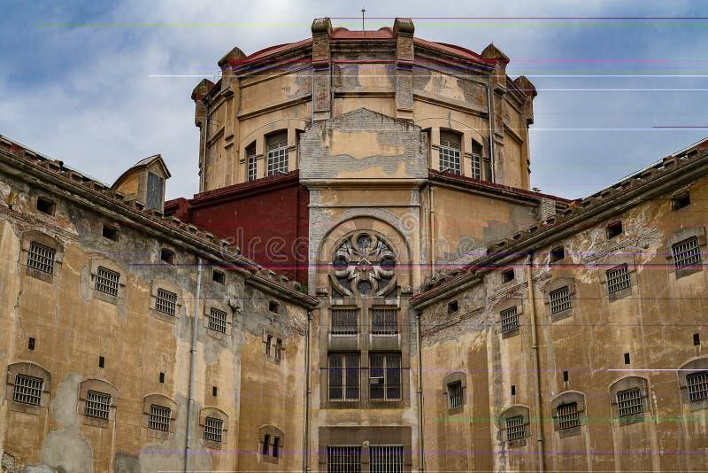 Edificio de la prisión vieja fotografía de archivo