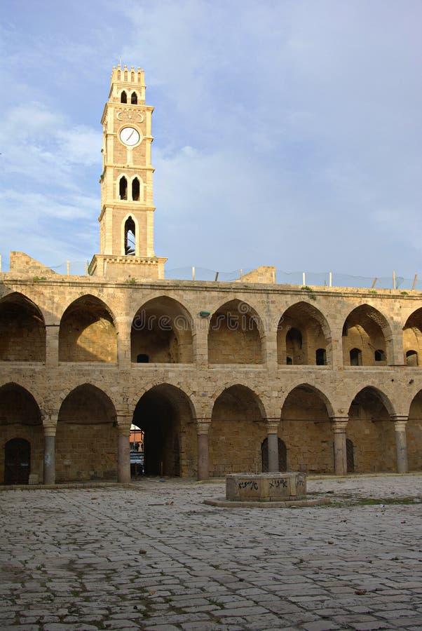 Edificio de la señal del otomano del al-Umdan de Khan fotos de archivo
