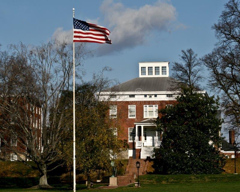 Edificio de la universidad fotografía de archivo libre de regalías