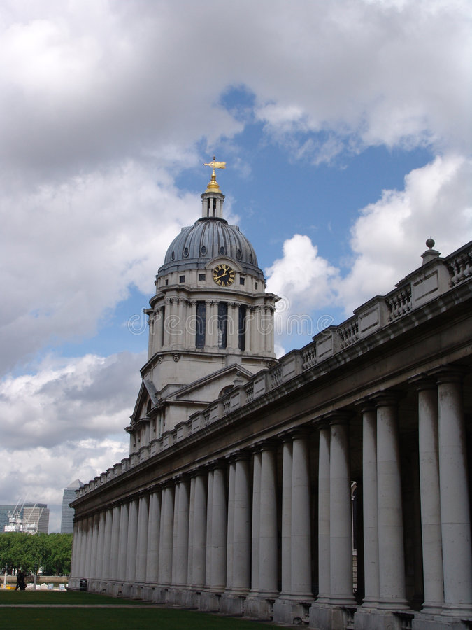Edificio de la universidad de Greenwich foto de archivo libre de regalías