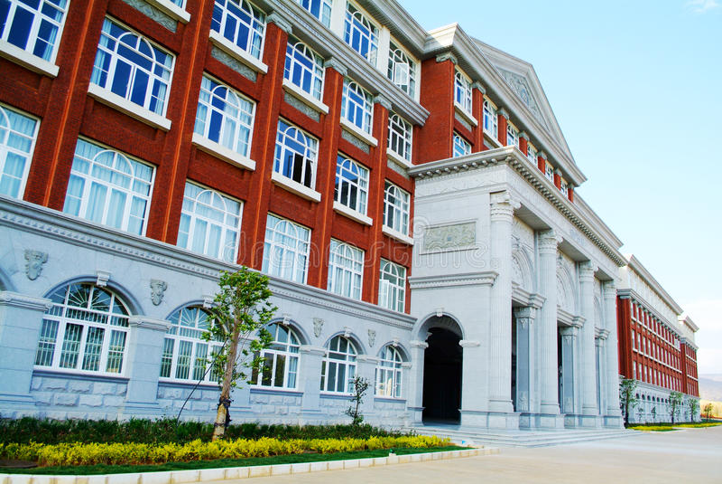 Edificio de la universidad del campus universitario imagen de archivo