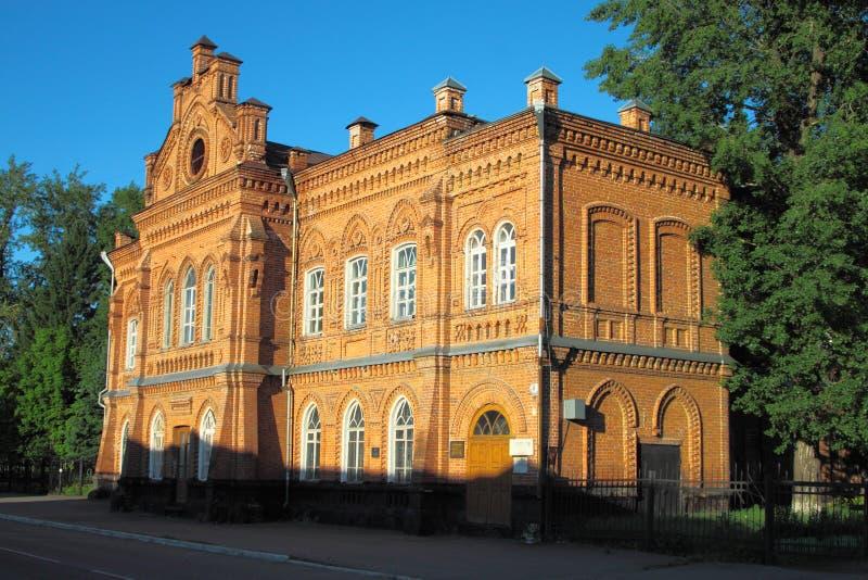 Edificio de ladrillo viejo del siglo XVIII foto de archivo libre de regalías