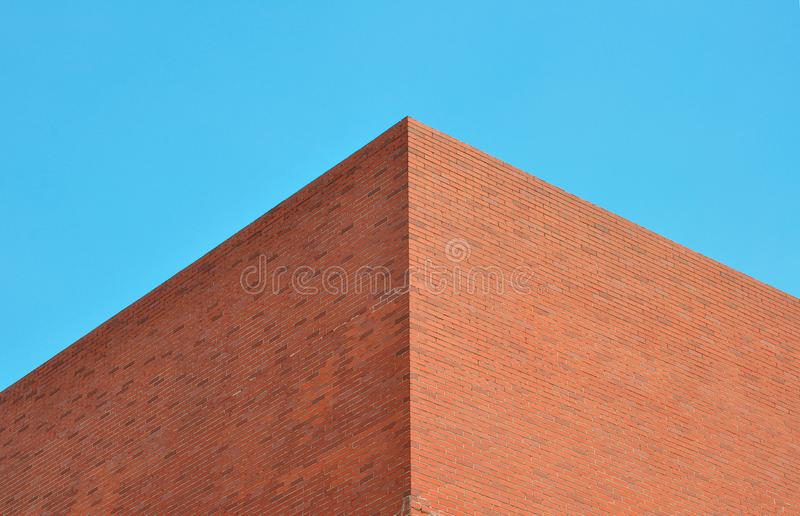 Edificio de ladrillos rojos fotos de archivo libres de regalías