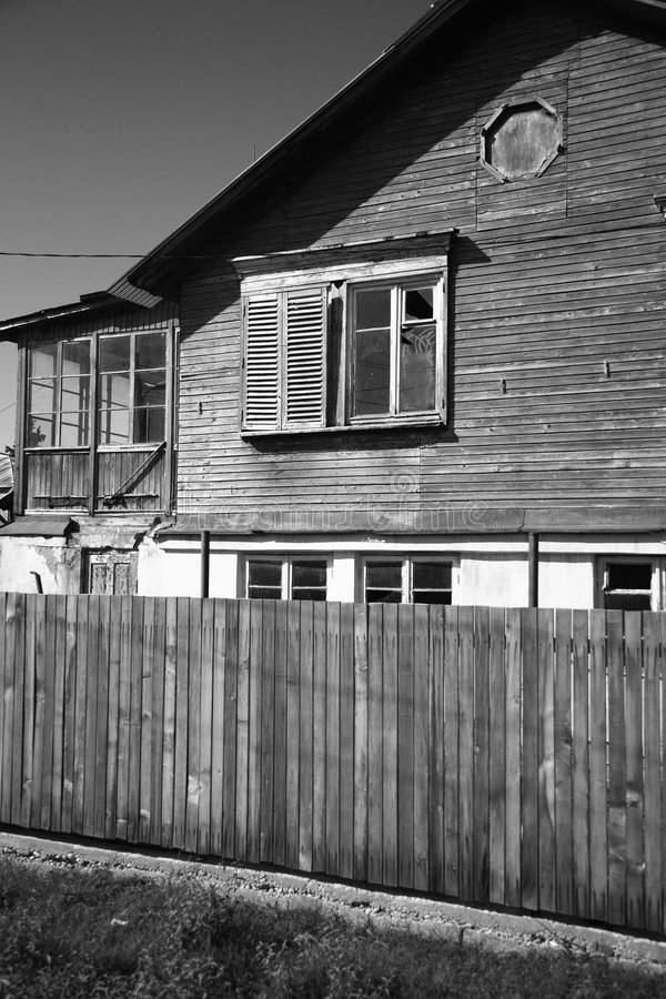 Edificio de madera viejo fotografía de archivo libre de regalías