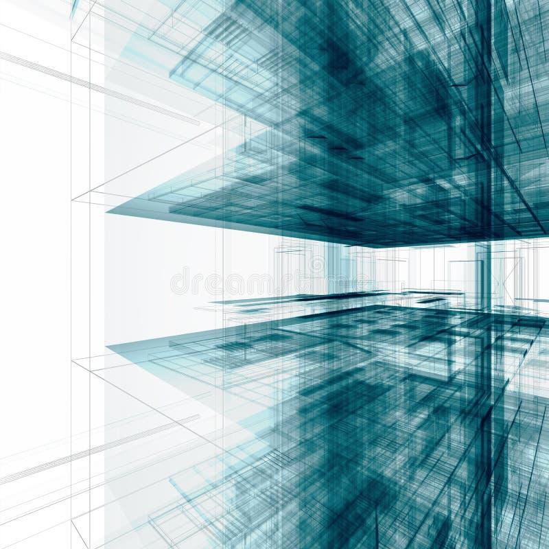 Edificio de oficinas abstracto ilustración del vector