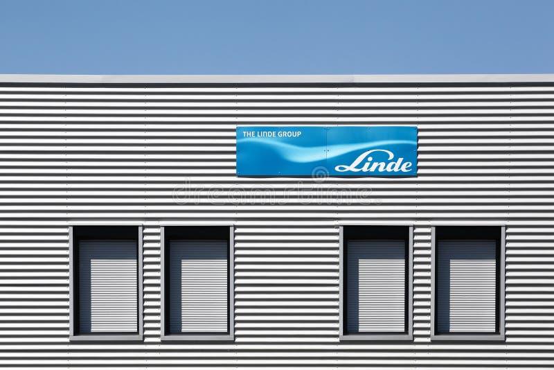 Edificio de oficinas del grupo de Linde en Francia fotos de archivo libres de regalías