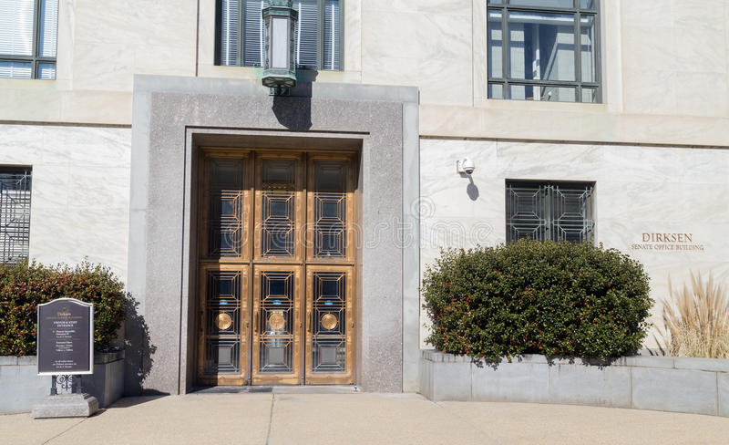 Edificio de oficinas del senado de Dirksen, Washington DC imágenes de archivo libres de regalías