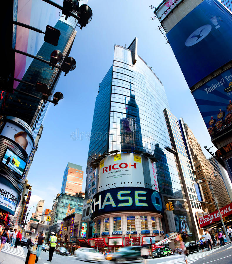 Edificio de oficinas del Times Square foto de archivo libre de regalías