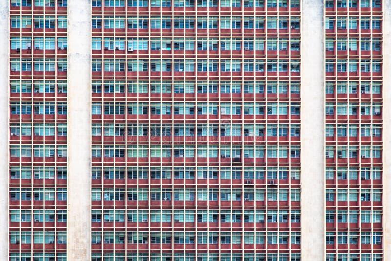 Edificio de oficinas Windows imagenes de archivo