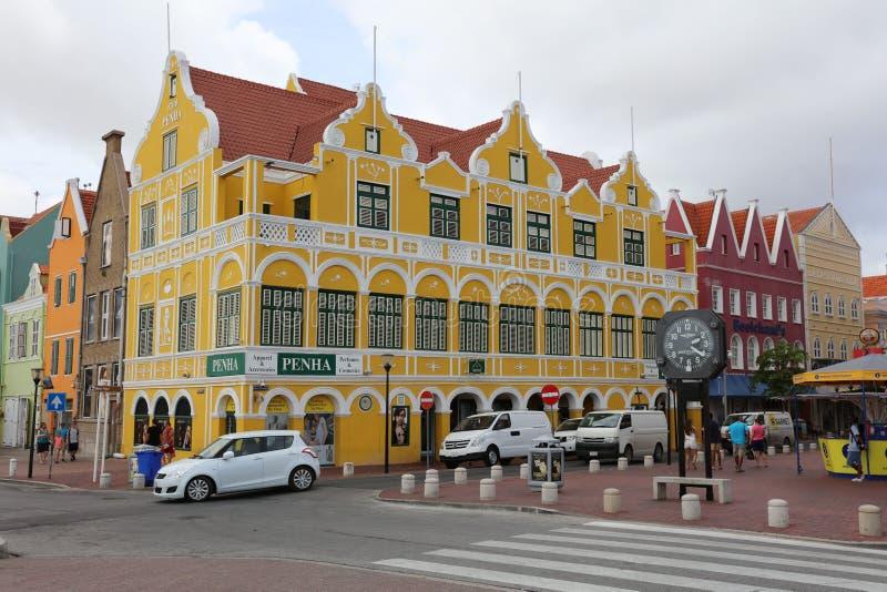 Edificio de Penha en Willemstad (Curaçao) imagen de archivo