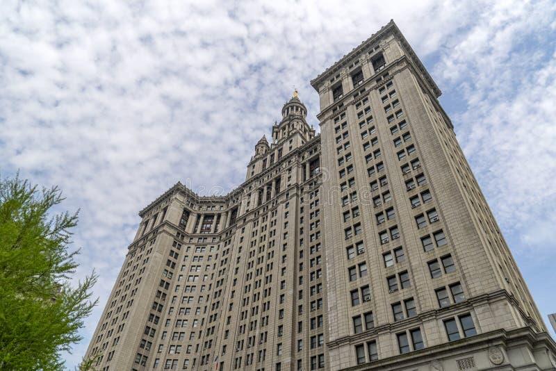 Edificio de presidente de ciudad de Manhattan Office en Nueva York imagenes de archivo