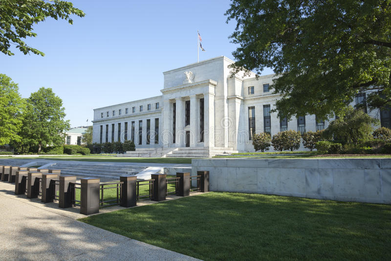 Edificio de reserva federal en Washington, C.C. imágenes de archivo libres de regalías