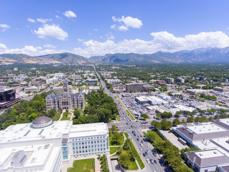 Edificio de Salt Lake City y del condado, Utah, los E.E.U.U. imagenes de archivo