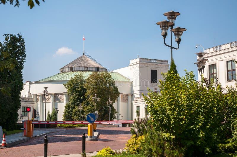 Edificio de Sejm en Varsovia. fotografía de archivo libre de regalías