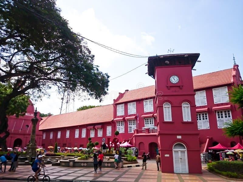 Edificio de Stadthuys Malaca fotos de archivo libres de regalías