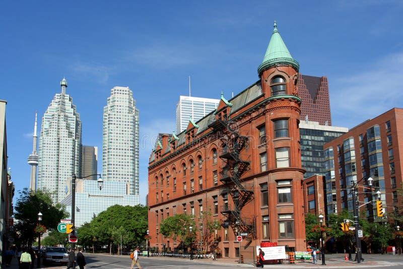 Edificio de Toronto Flatiron foto de archivo libre de regalías