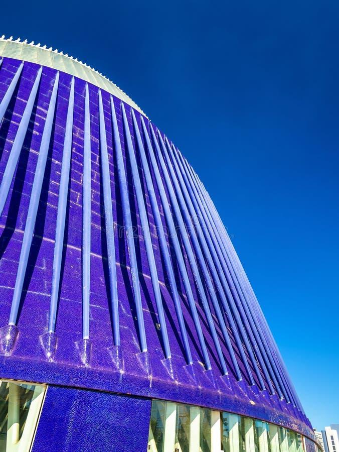 Edificio del ágora en la ciudad de artes y de ciencias en Valencia, España foto de archivo libre de regalías