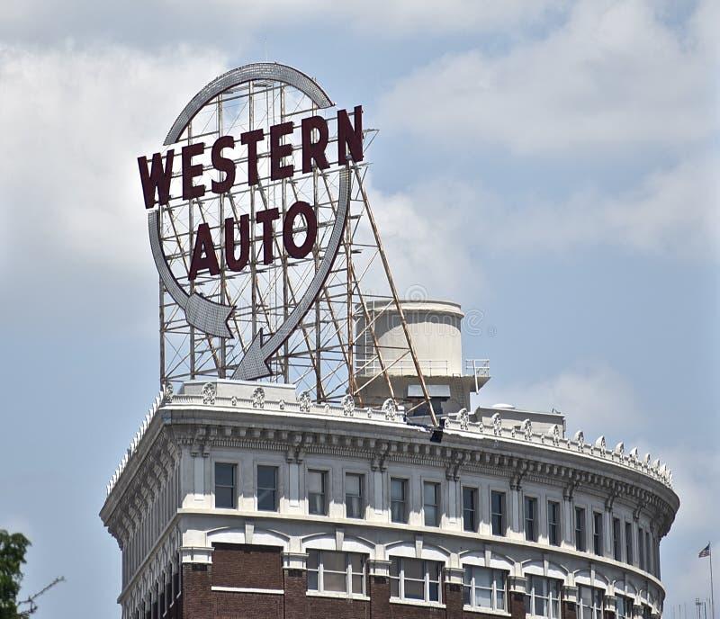 Edificio del Automóvil Occidental, Kansas City Missouri fotografía de archivo
