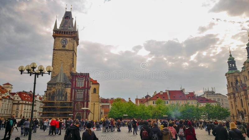 Edificio del ayuntamiento en Praga, República Checa foto de archivo
