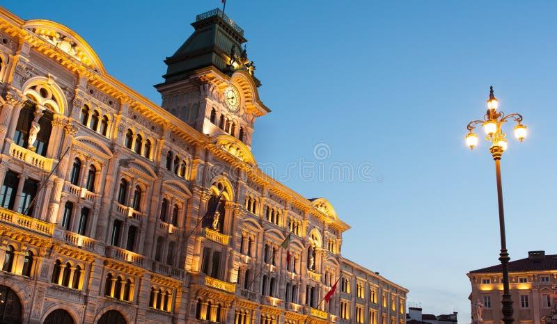 Edificio del ayuntamiento, Trieste fotos de archivo