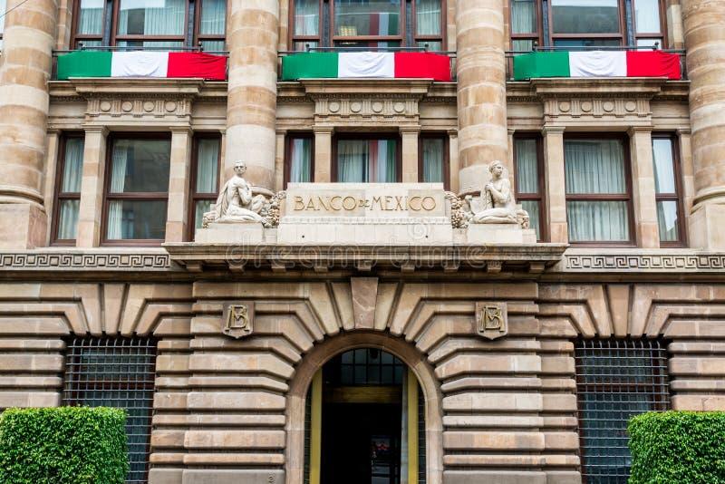 Edificio del Banco de México, autoridad monetaria del Banco Central de México y prestamista de última instancia foto de archivo