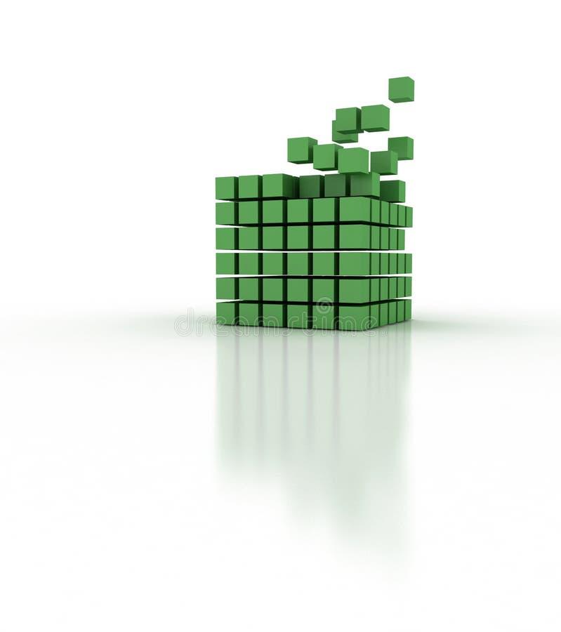Edificio del bloque de los colores stock de ilustración