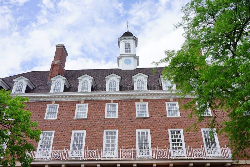 Edificio del campus de UIUC imágenes de archivo libres de regalías