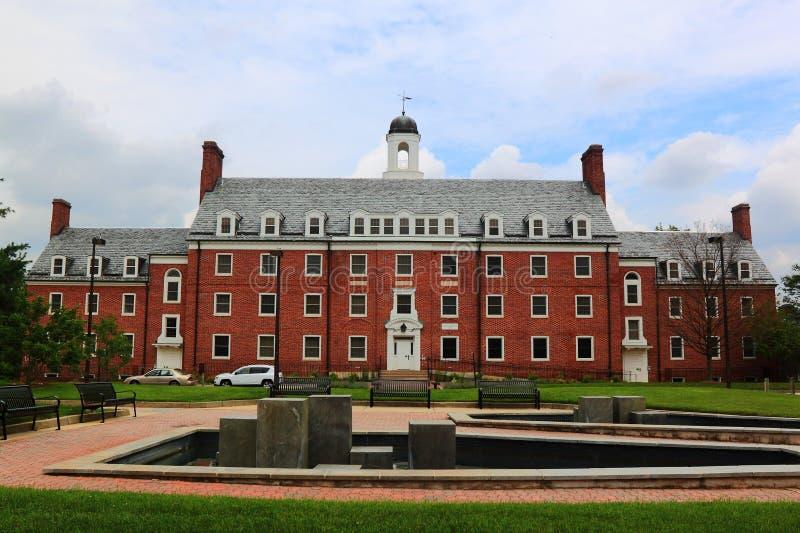Edificio del campus de Universidad de Maryland imágenes de archivo libres de regalías