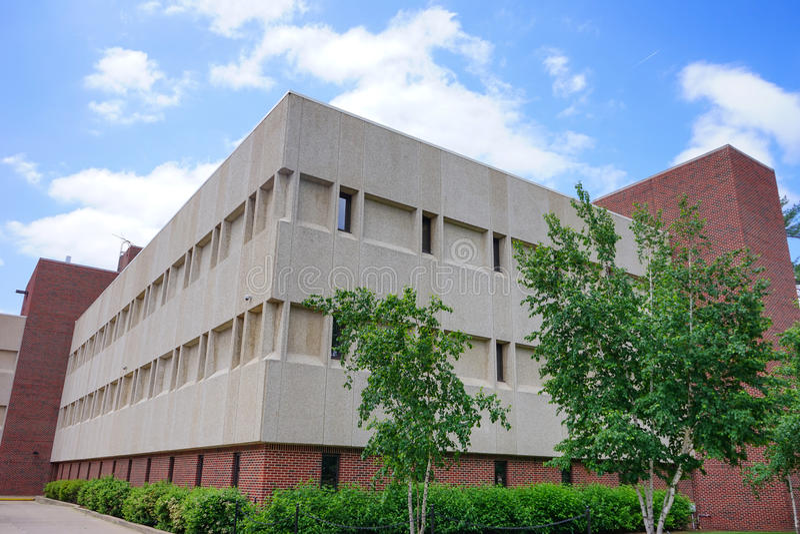 Edificio del campus universitario de Purdue foto de archivo