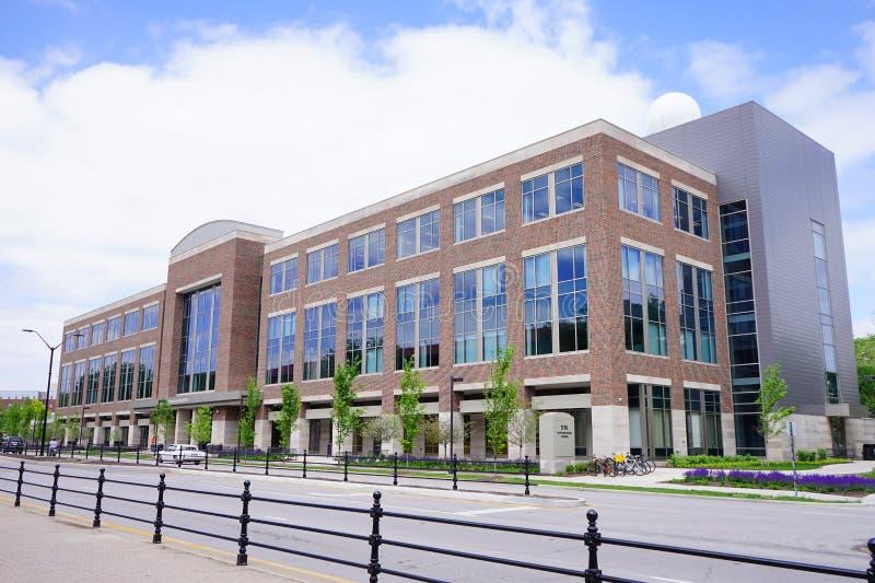 Edificio del campus universitario de Purdue imágenes de archivo libres de regalías