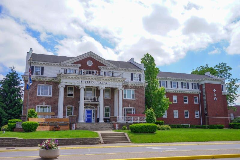 Edificio del campus universitario de Purdue imagenes de archivo