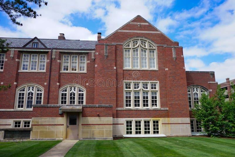 Edificio del campus universitario de Purdue fotos de archivo