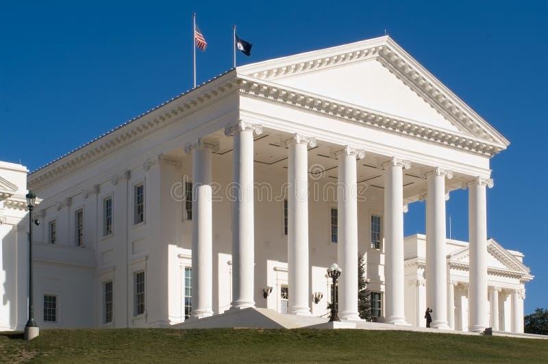 Edificio del capitolio de Richmond imágenes de archivo libres de regalías