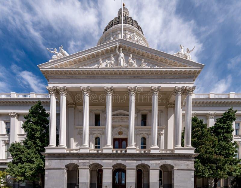 Edificio del capitolio de Sacramento imagenes de archivo