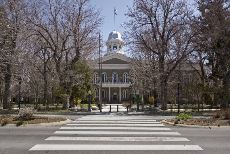 Edificio del capitolio del estado, ciudad de Carson, Nevada fotografía de archivo libre de regalías