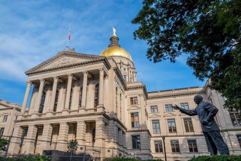 Edificio del capitolio del estado de Georgia en Atlanta, Georgia fotografía de archivo