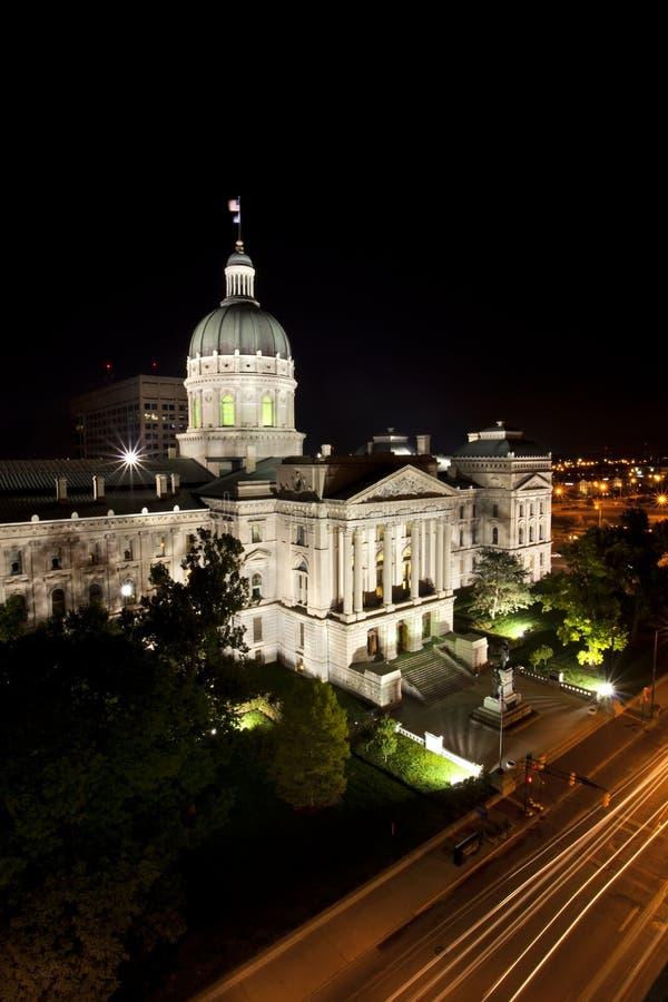 Edificio del capitolio del estado de Indiana fotografía de archivo libre de regalías