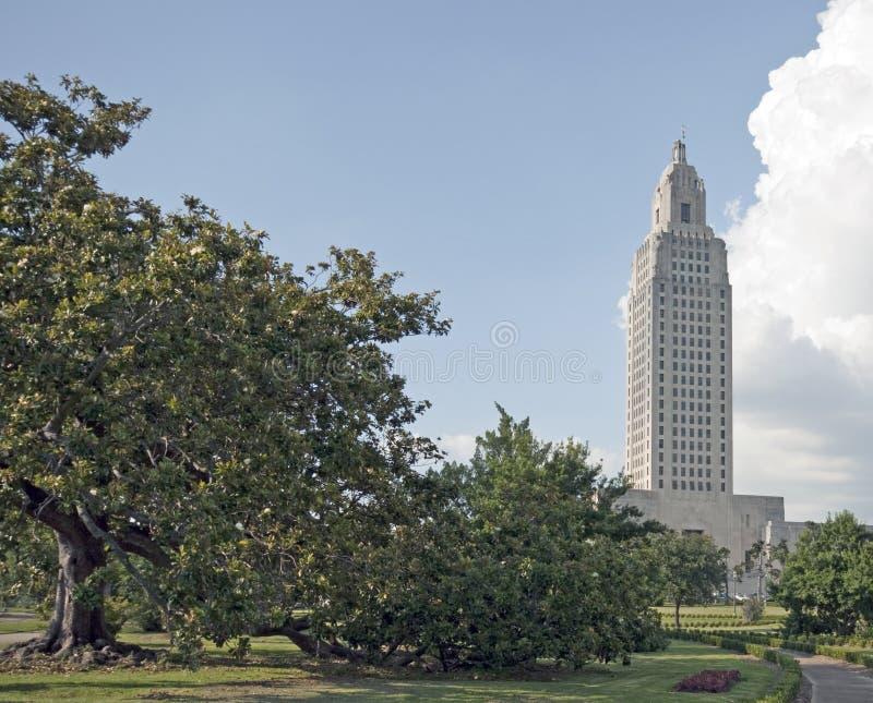 Edificio del capitolio del estado de Luisiana fotos de archivo