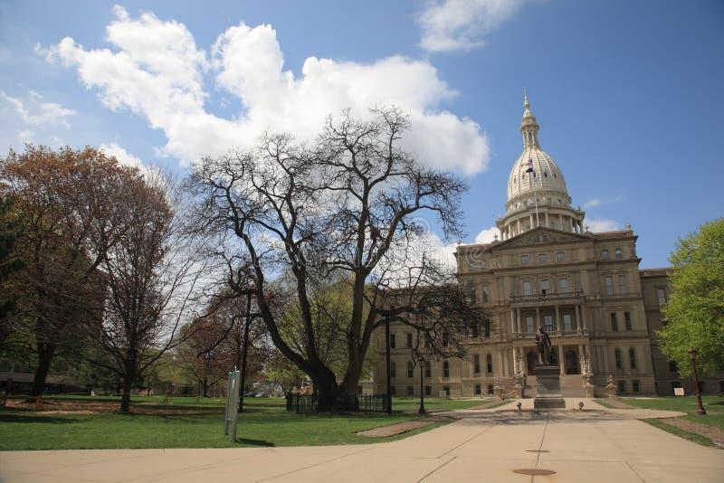 Edificio del capitolio del estado de Michigan fotos de archivo