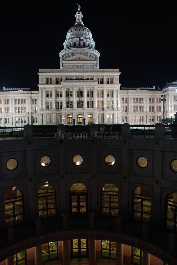 Edificio del capitolio del estado de Tejas en Austin imagenes de archivo