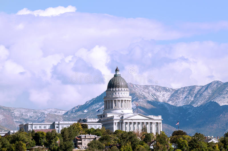 Edificio del capitolio del estado de Utah fotografía de archivo libre de regalías