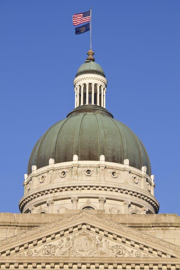 Edificio del capitolio del estado en Indianapolis imágenes de archivo libres de regalías