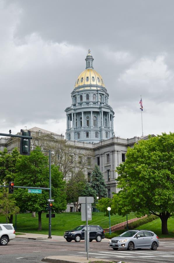 Edificio del capitolio en Denver Colorado céntrico foto de archivo libre de regalías
